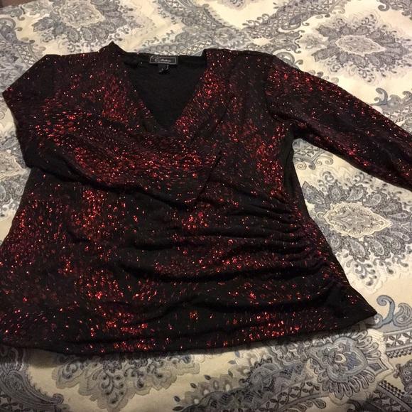 Dress Barn Tops - Brand New red glitter ✨ blouse